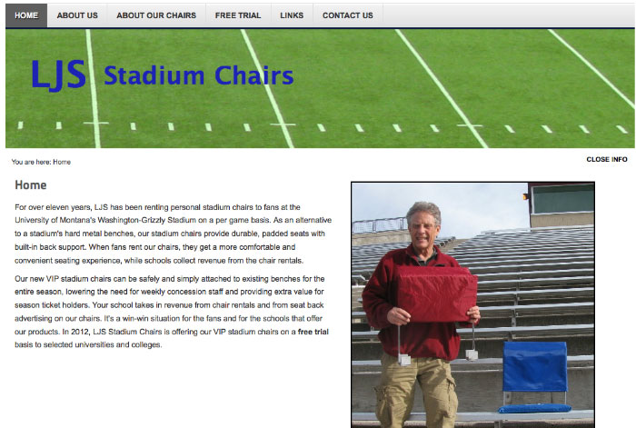 LJS Stadium Chairs - Missoula Montana