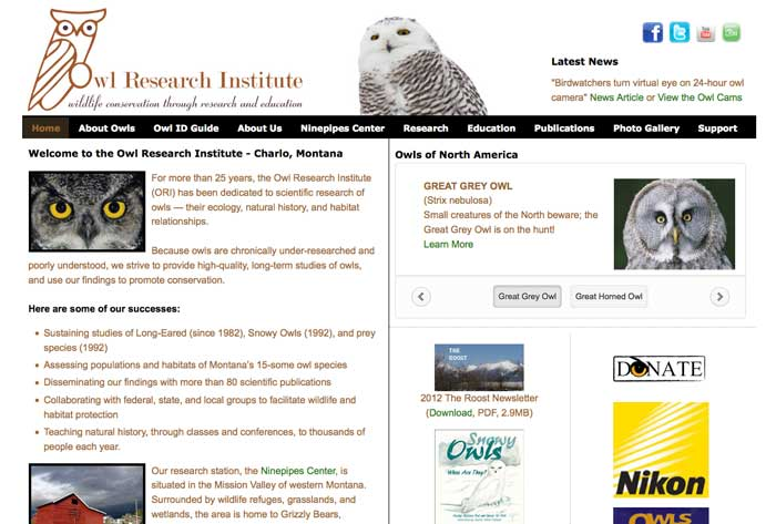 Owl Research Institute - Charlo, Montana