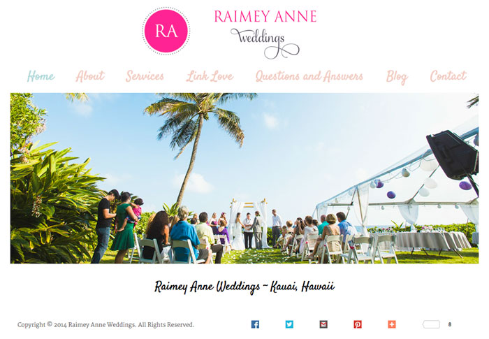 Raimey Anne Weddings