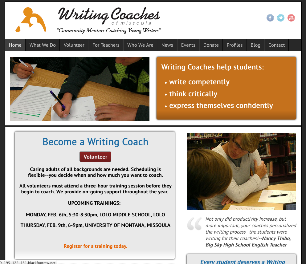 Writing Coaches of Missoula - Montana